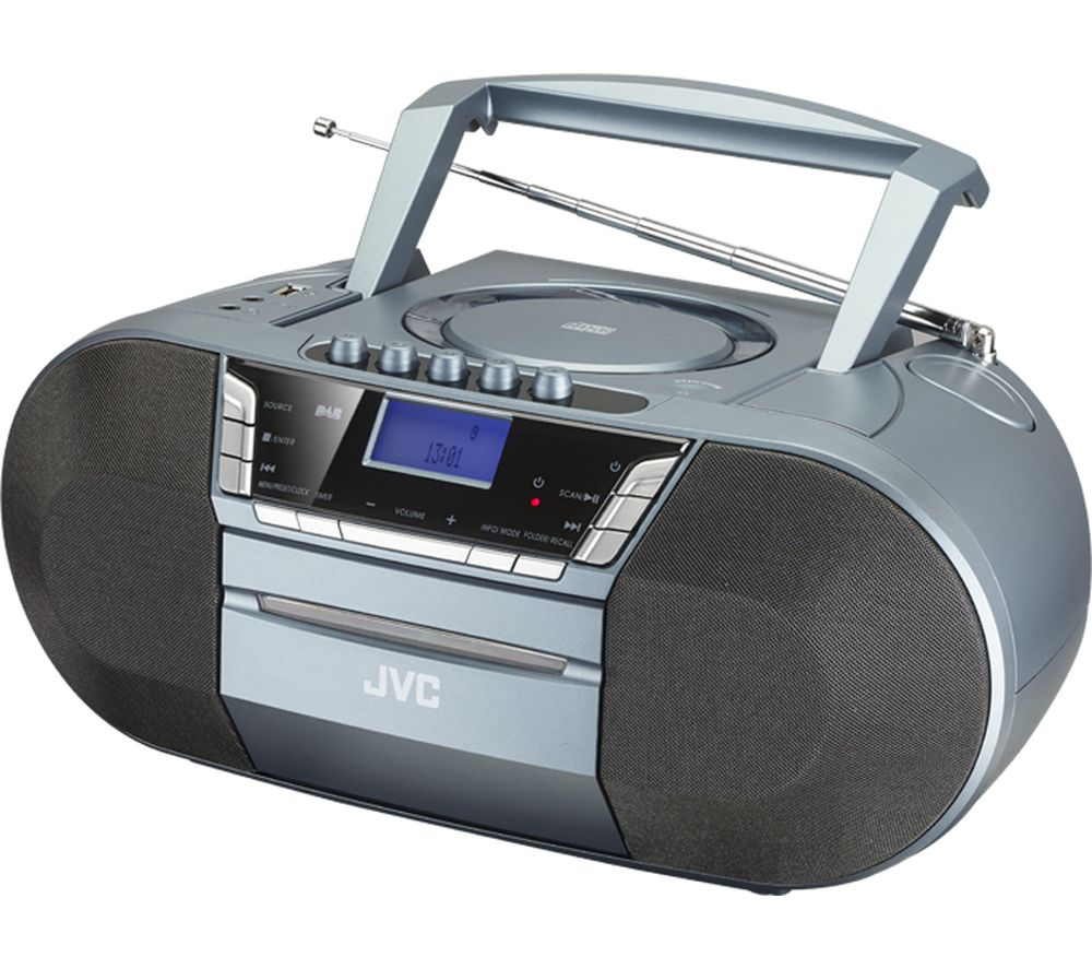 buy jvc rc d327b dab fm bluetooth boombox grey free. Black Bedroom Furniture Sets. Home Design Ideas