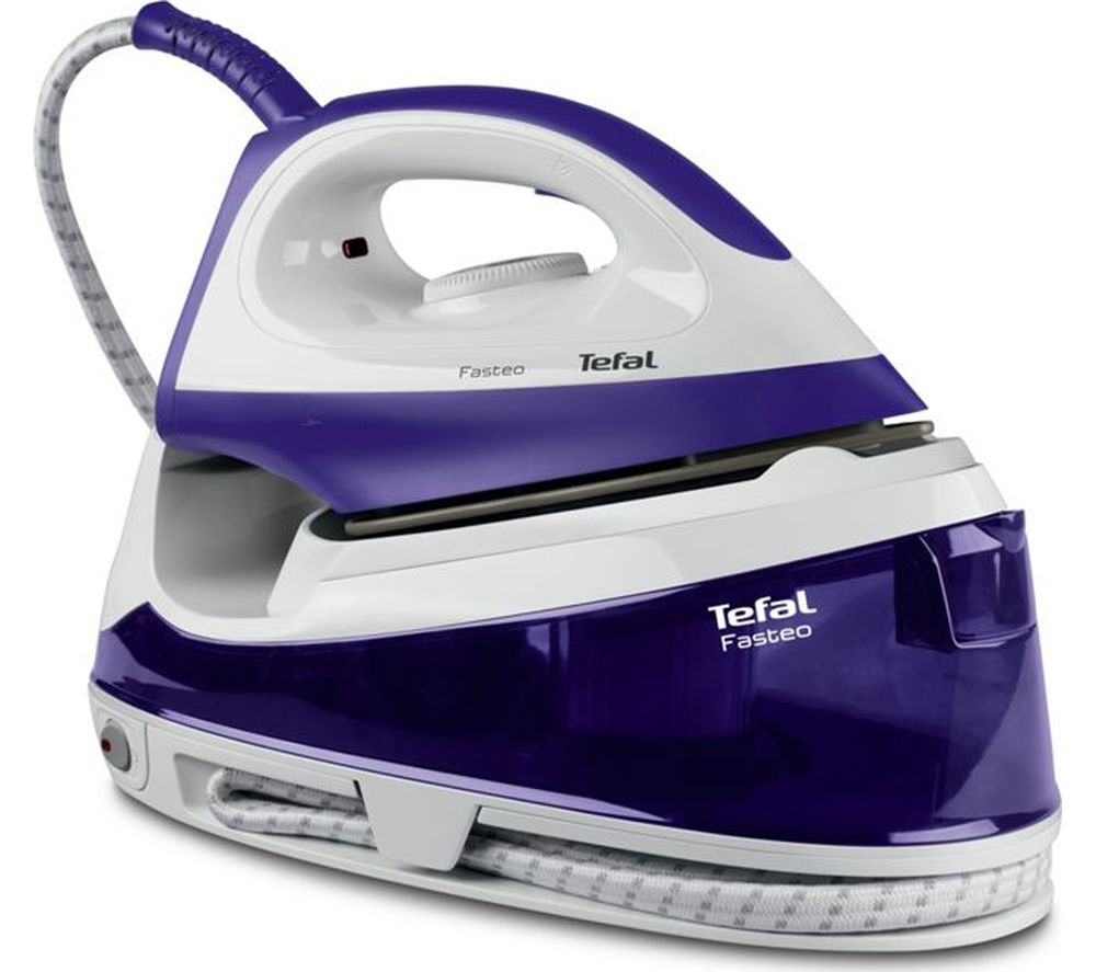 TEFAL Fasteo SV6020 Steam Generator Iron - Purple & White, Purple