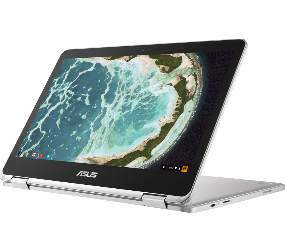 "ASUS Flip C302 12.5"" Intel® Core™ m3 2 in 1 Chromebook - 64 GB eMMC, Silver"