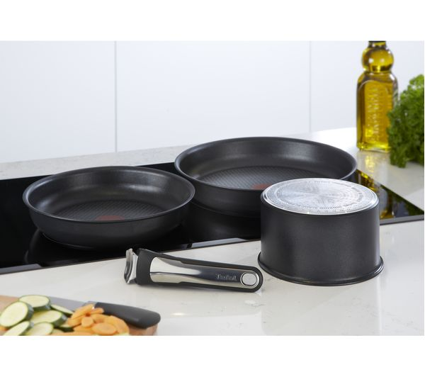 buy tefal ingenio l3209645 4 piece cookware set black. Black Bedroom Furniture Sets. Home Design Ideas
