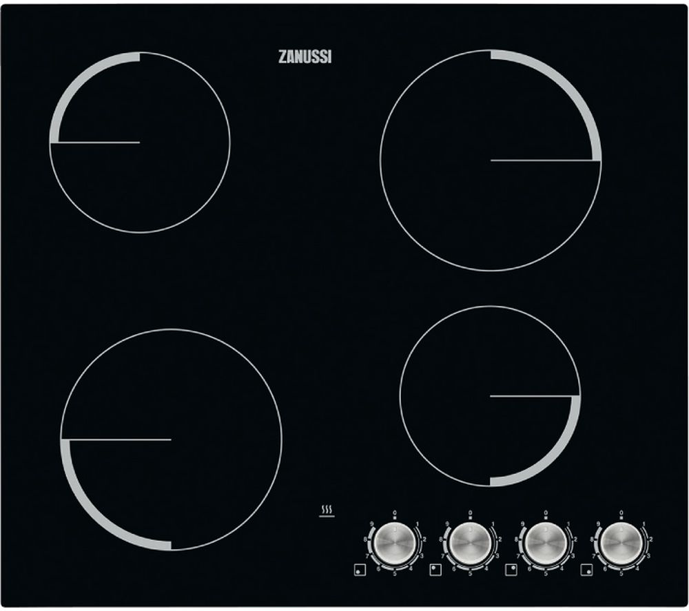 ZANUSSI ZV694NK Electric Ceramic Hob - Black, Black Review thumbnail