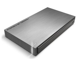 LACIE Porsche Design Portable Hard Drive - 2 TB, Grey