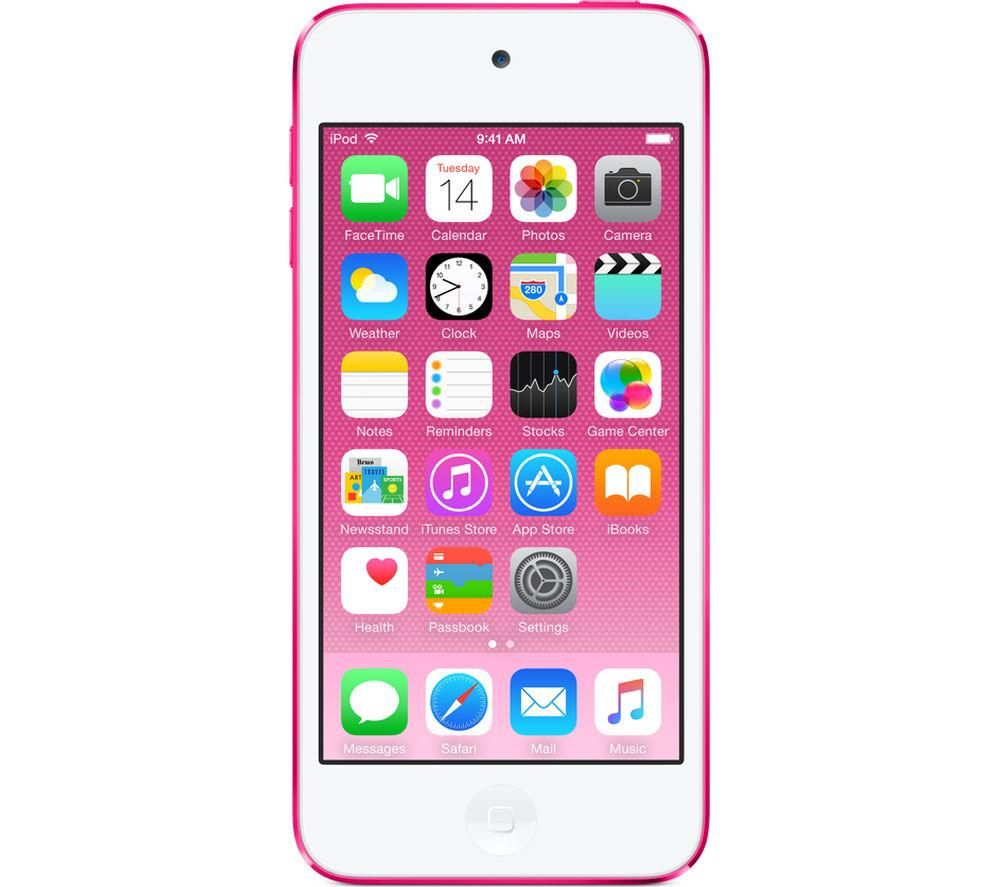 Image of APPLE iPod touch - 128 GB, 6th Generation, Pink, Pink