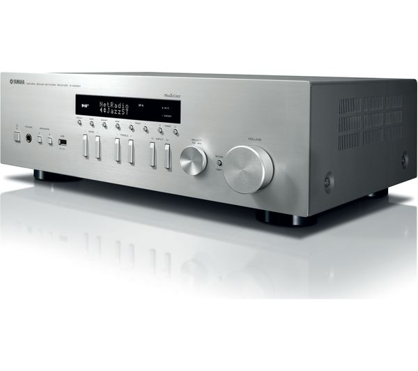 buy yamaha r n402d network stereo receiver silver free delivery currys. Black Bedroom Furniture Sets. Home Design Ideas