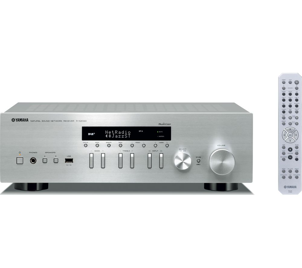 YAMAHA R-N402D Network Stereo Receiver - Silver, Silver