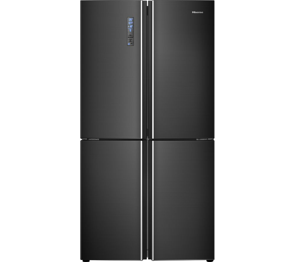 HISENSE RQ689N4BF1 Fridge Freezer - Black Stainless Steel, Stainless Steel