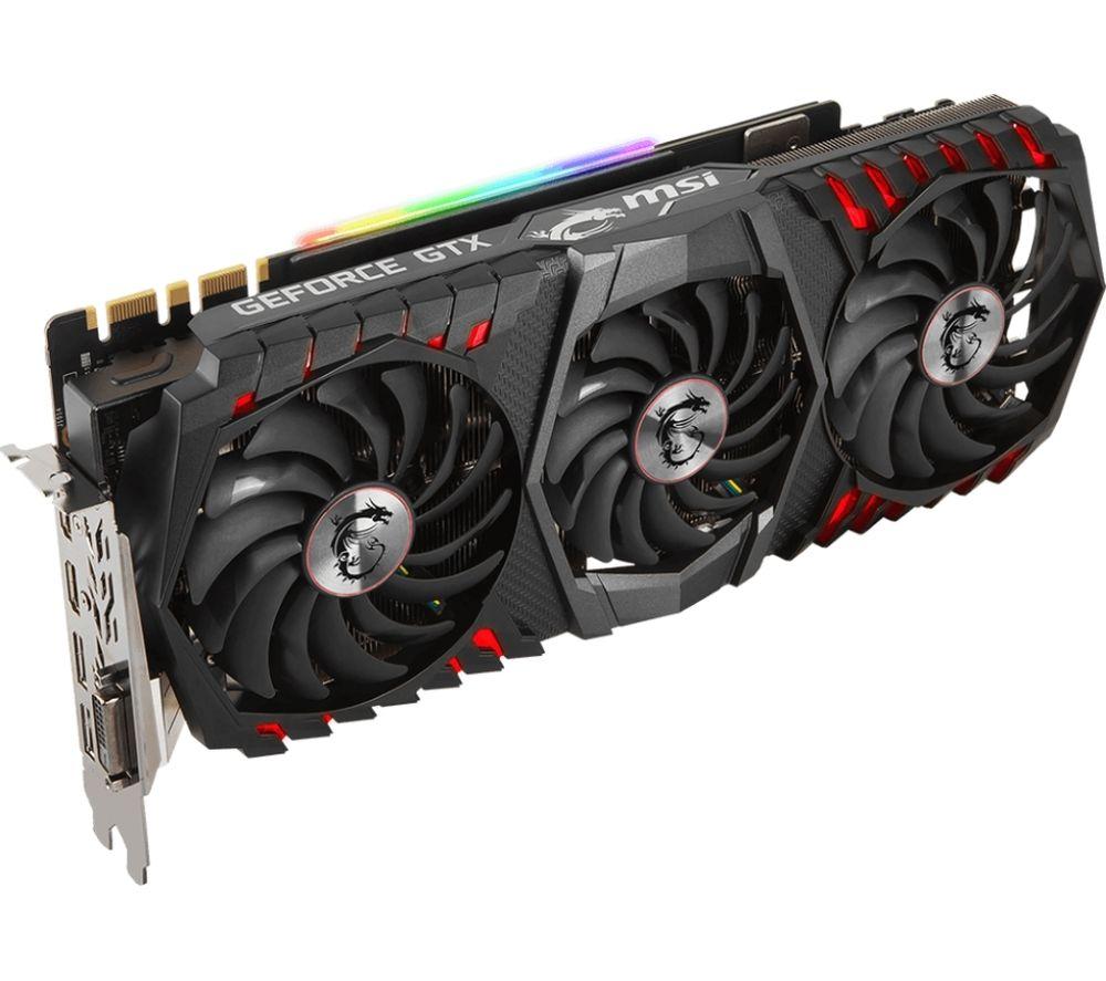 MSI GeForce GTX 1080 Ti 11 GB Gaming X Trio Graphics Card