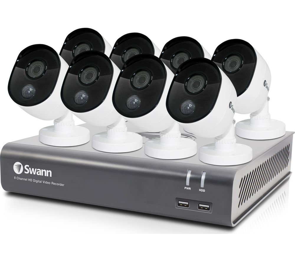 SWANN SODVK-845808-UK Full HD 1080p Smart Home Security System - 1 TB, 8 Cameras