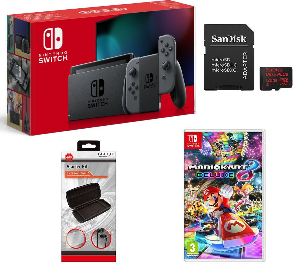 buy nintendo switch mario kart 8 deluxe 128 gb memory card vs4793 nintendo switch starter. Black Bedroom Furniture Sets. Home Design Ideas