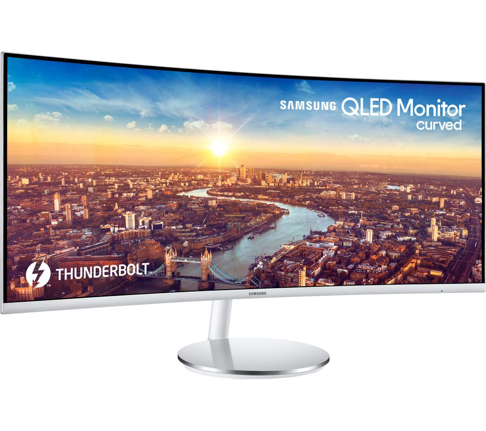 "SAMSUNG C34J791 Quad HD 34"" Curved LED Monitor - White & Silver"