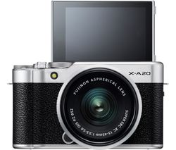 FUJIFILM X-A20 Mirrorless Camera with FUJINON XC 15-45 mm f/3.5-5.6 OIS PZ Lens - Black & Silver