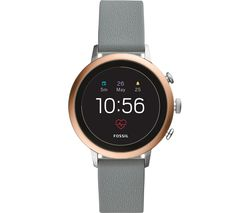 eb14c273f FOSSIL Venture FTW6016 Smartwatch - Rose Gold, Grey Silicone Strap