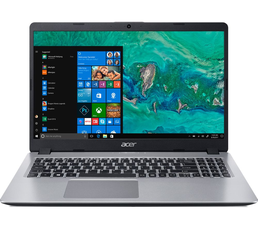 """ACER Aspire 5 A515-52 15.6"""" Intel® Core™ i7 Laptop - 512 GB SSD, Silver"""