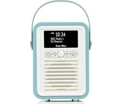 Retro Mini Portable DAB+/FM Bluetooth Radio - Mint