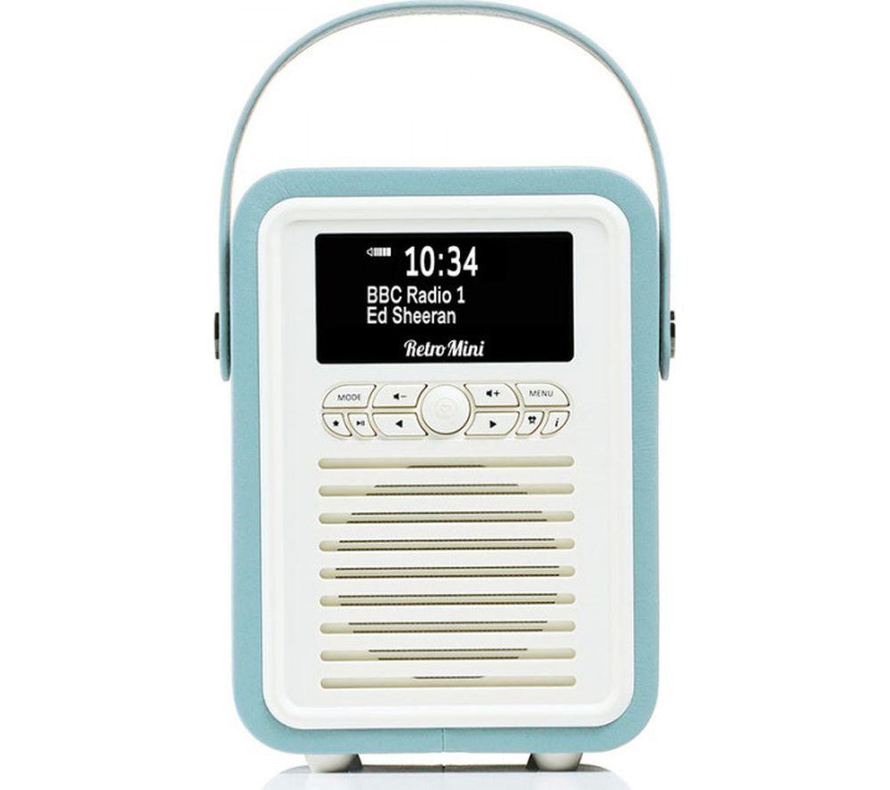 VQ Retro Mini Portable DAB+/FM Bluetooth Radio - Mint
