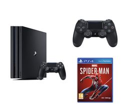 SONY PlayStation 4 Pro, Marvel's Spider-Man & DualShock 4 V2 Wireless Controller Bundle - 1 TB