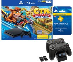 SONY PlayStation 4 with Crash Team Racing, Twin Docking Station & PlayStation Plus Bundle - 500 GB