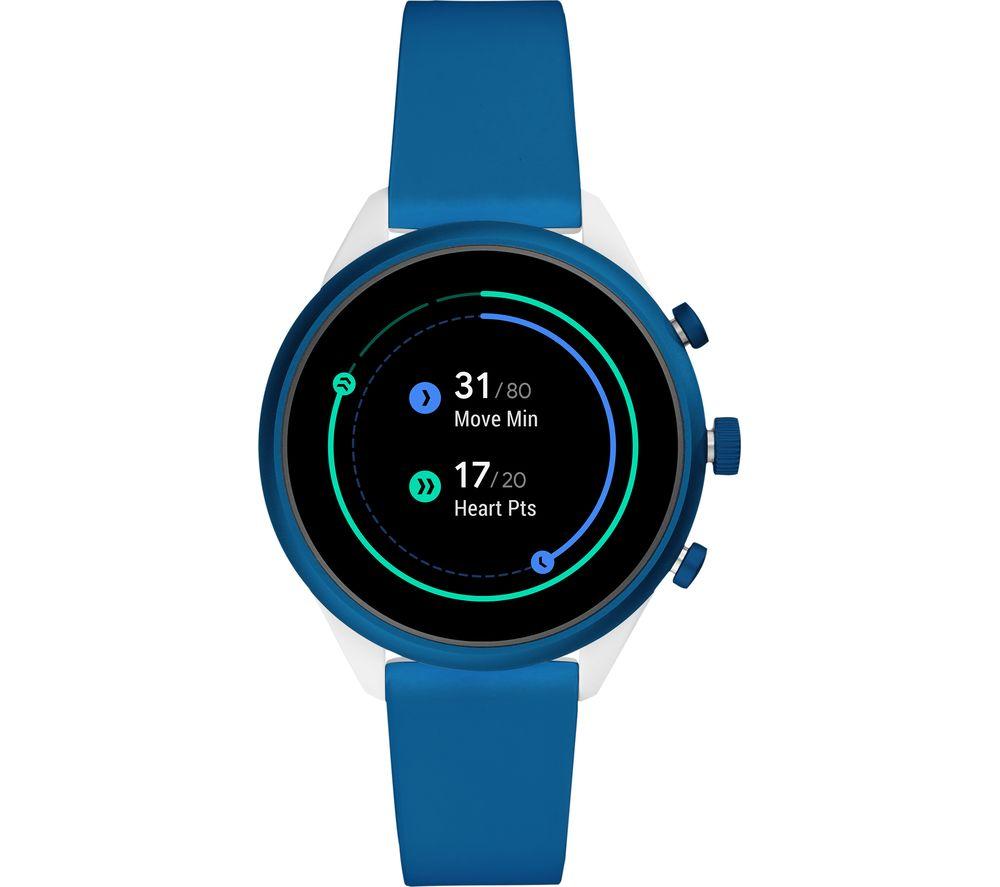 FOSSIL Sport FTW6051 Smartwatch - Blue, 41 mm