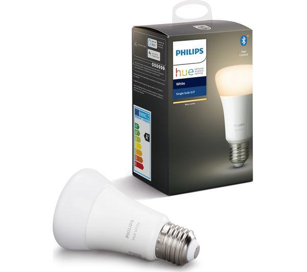 Image of PHILIPS HUE White Bluetooth LED Bulb - E27