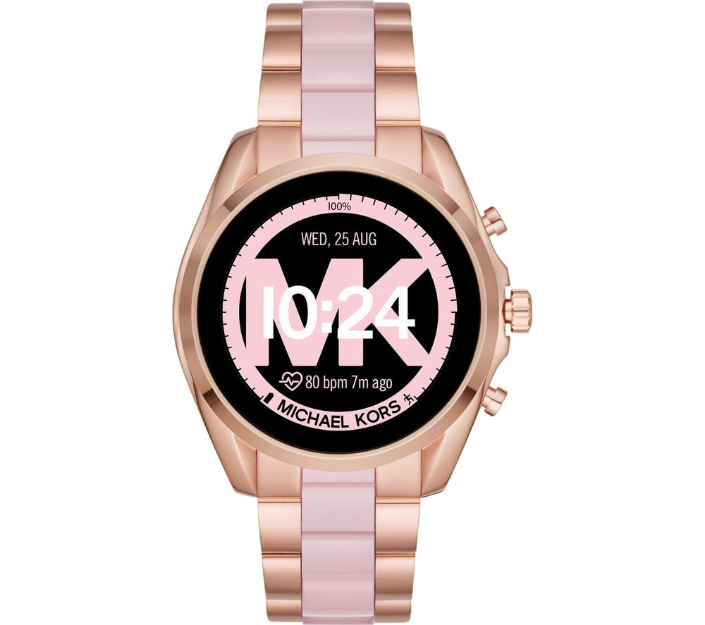Image of MICHAEL KORS Access Bradshaw 2 MKT5090 Smartwatch - 44 mm, Rose Gold & Acetate, Gold