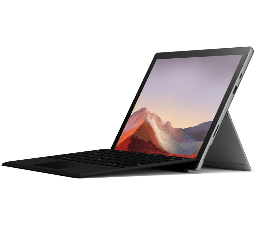"Image of MICROSOFT SURFACE 12.3"" Intelu0026reg Coreu0026trade i5 Surface Pro 7 with Black Type Cover - 256 GB SSD, Platinum, Black"
