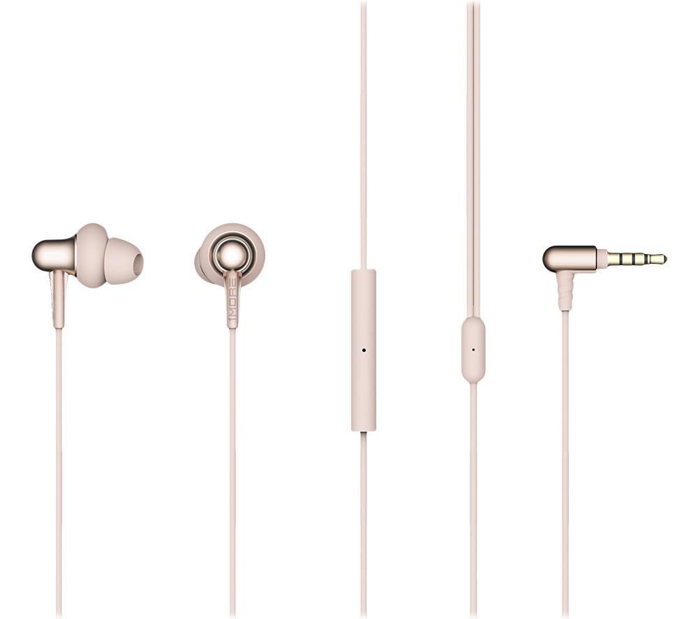1MORE Stylish Dual-Dynamic E1025 Earphones - Platinum Gold, Gold