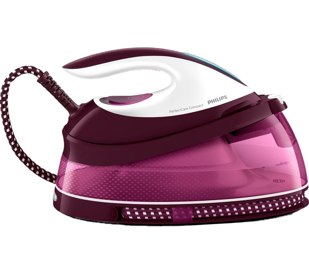 PHILIPS PerfectCare Compact GC7808/40 Steam Generator Iron - Dark Red