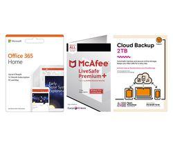 LiveSafe Premium 2020, Microsoft Office 365 Home & Knowhow 2 TB Cloud Backup Bundle