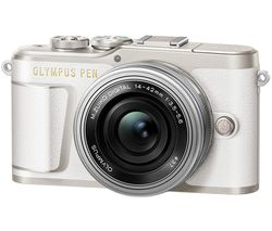 PEN E-PL9 Mirrorless Camera with M.ZUIKO DIGITAL ED 14-42 mm f/3.5-5.6 EZ Lens - White