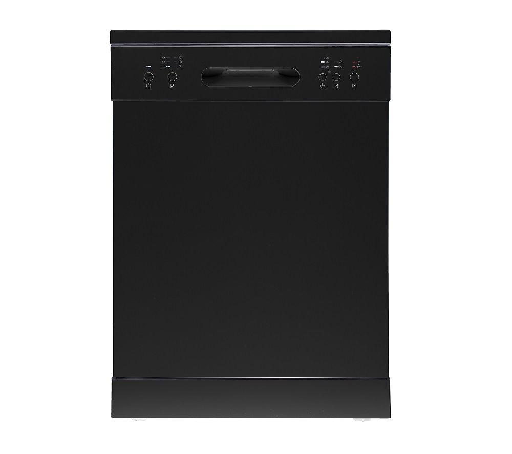 ESSENTIALS CUE CDW60B20 Full-size Dishwasher - Black, Black