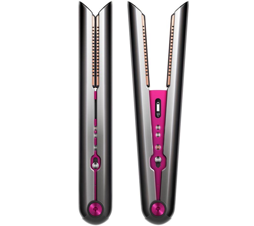 Image of Dyson Corrale Hair Straightener - Black Nickel & Fuchsia, Black