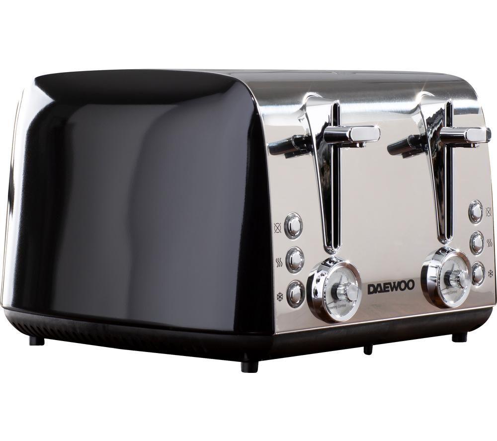 DAEWOO Kingsbury SDA1777 4-Slice Toaster - Stainless Steel
