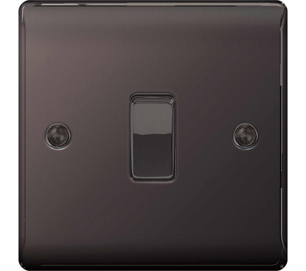BG ELECTRICAL Decorative NBN12-01 Switch - Black Nickel