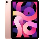 £859, APPLE 10.9inch iPad Air Cellular (2020) - 256 GB, Rose Gold, iPadOS, Liquid Retina display, 256GB storage: Perfect for saving pretty much everything, Battery life: Up to 9 hours, Compatible with Apple Pencil (2nd generation),