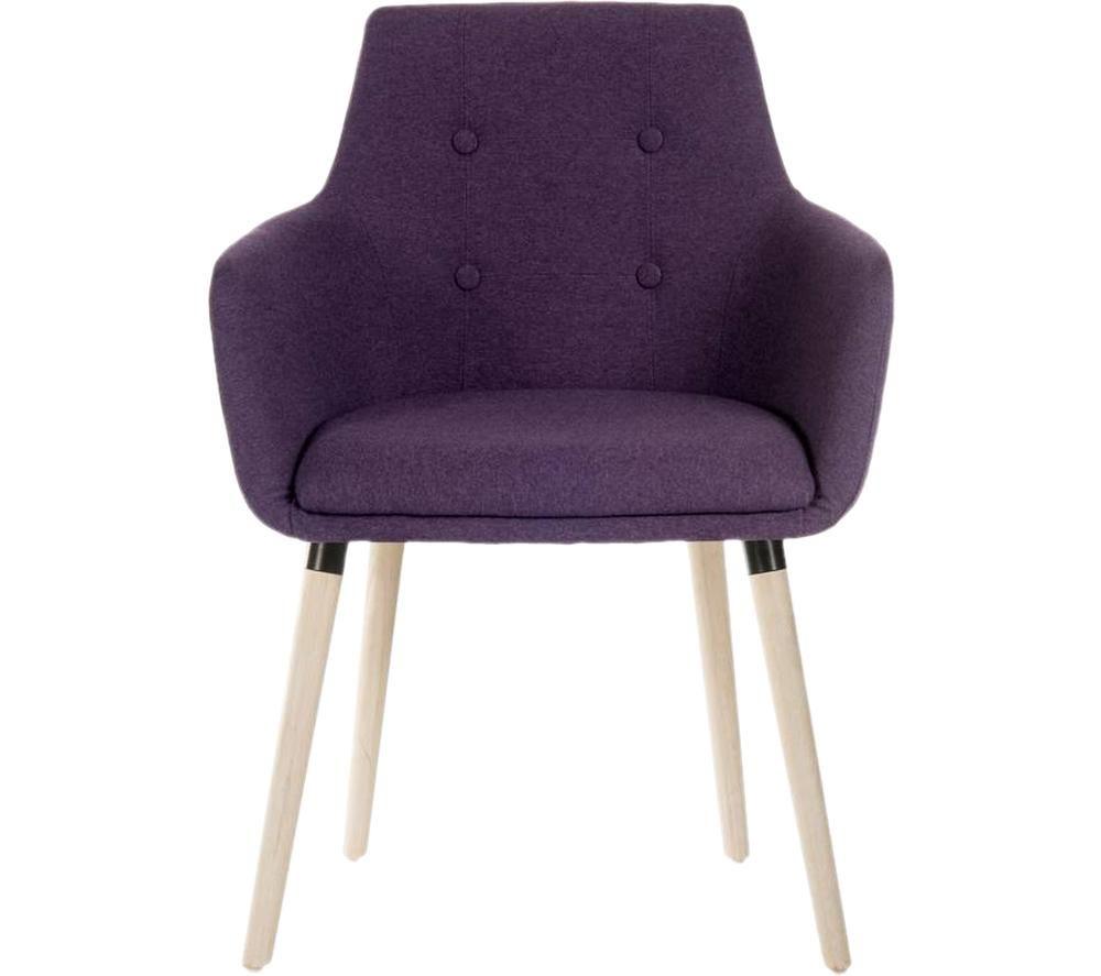 TEKNIK 4 Legged Fabric Reception Chair - Plum, Set of 2, Plum