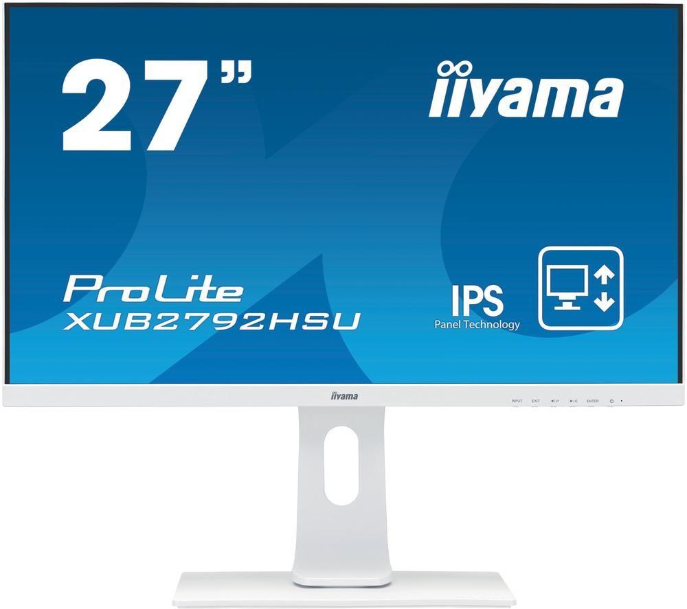 """Image of IIYAMA ProLite XUB2792HSU-W1 Full HD 27"""" IPS LCD Monitor - White, White"""