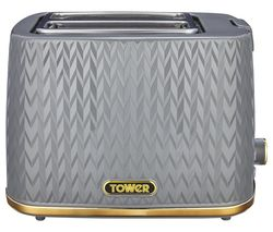 Empire Collection T20054GRY 2-Slice Toaster – Grey