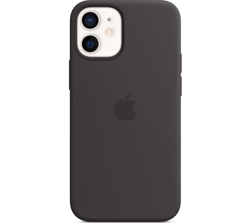 APPLE iPhone 12 mini Silicone Case with MagSafe - Black, Black