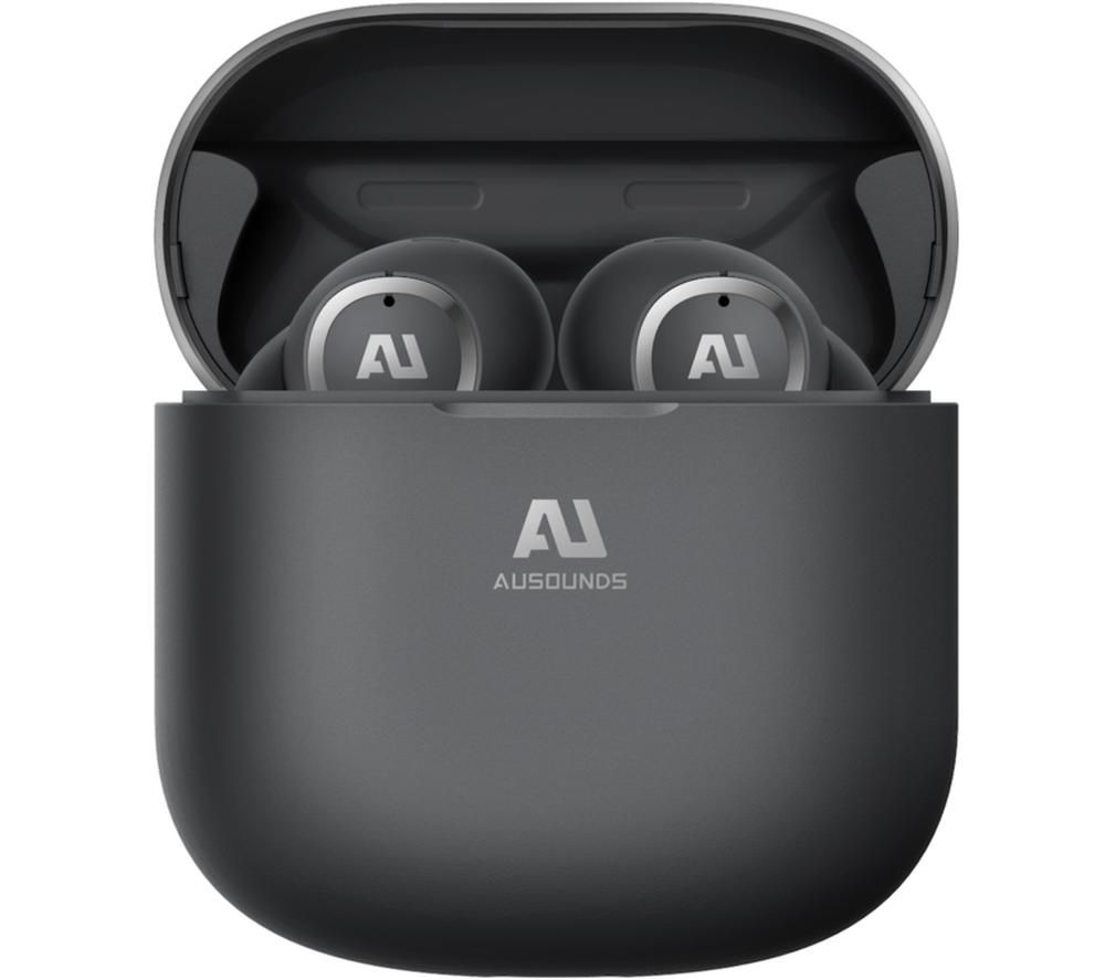 AUSOUNDS AU-Stream Wireless Bluetooth Noise-Cancelling Earphones - Black, Black