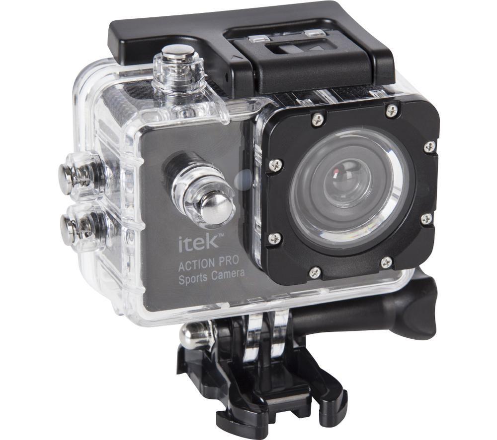 ITEK I67002 Action Pro Sports Camera - Black