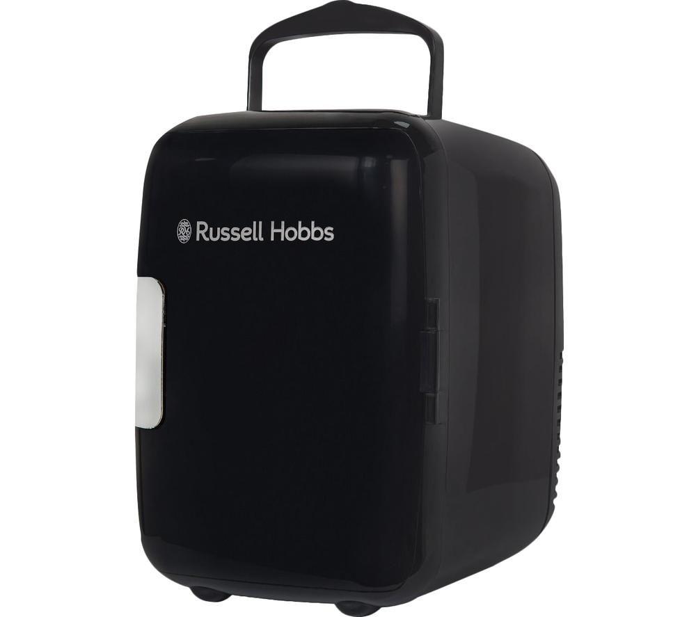 RUSSELL HOBBS Retro RH4CLR1001B Mini Cooler - Black, Black