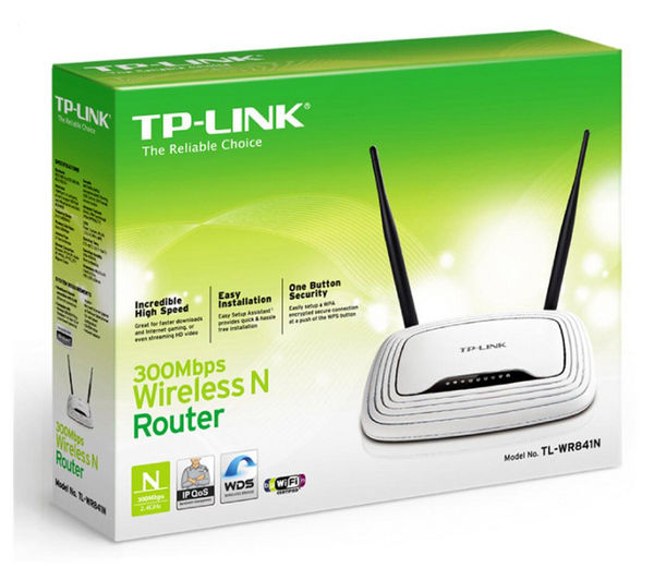 67912 - TP-LINK TL-WR841N WiFi Cable & Fibre Router - N300