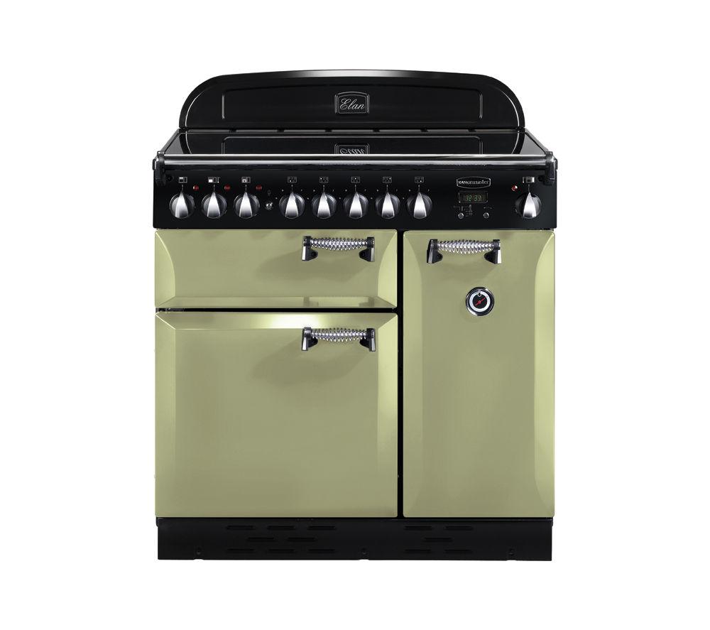 RANGEMASTER Elan 90 Electric Ceramic Range Cooker - Olive