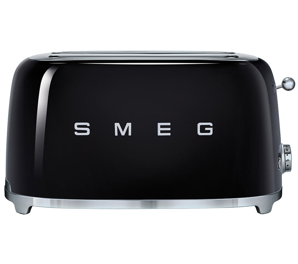 Buy smeg tsf02bluk 4 slice toaster black free delivery Kitchen appliance reviews uk