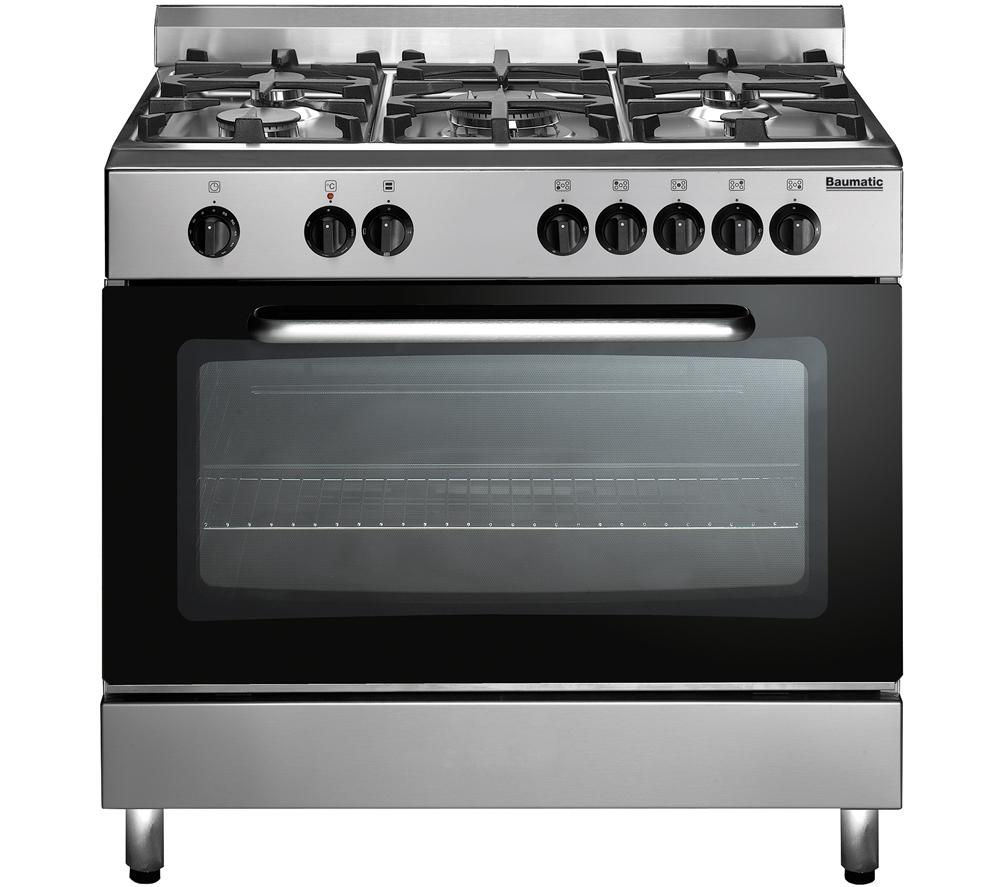 Image of BAUMATIC BC391.3TCSS Dual Fuel Range Cooker - Stainless Steel, Stainless Steel