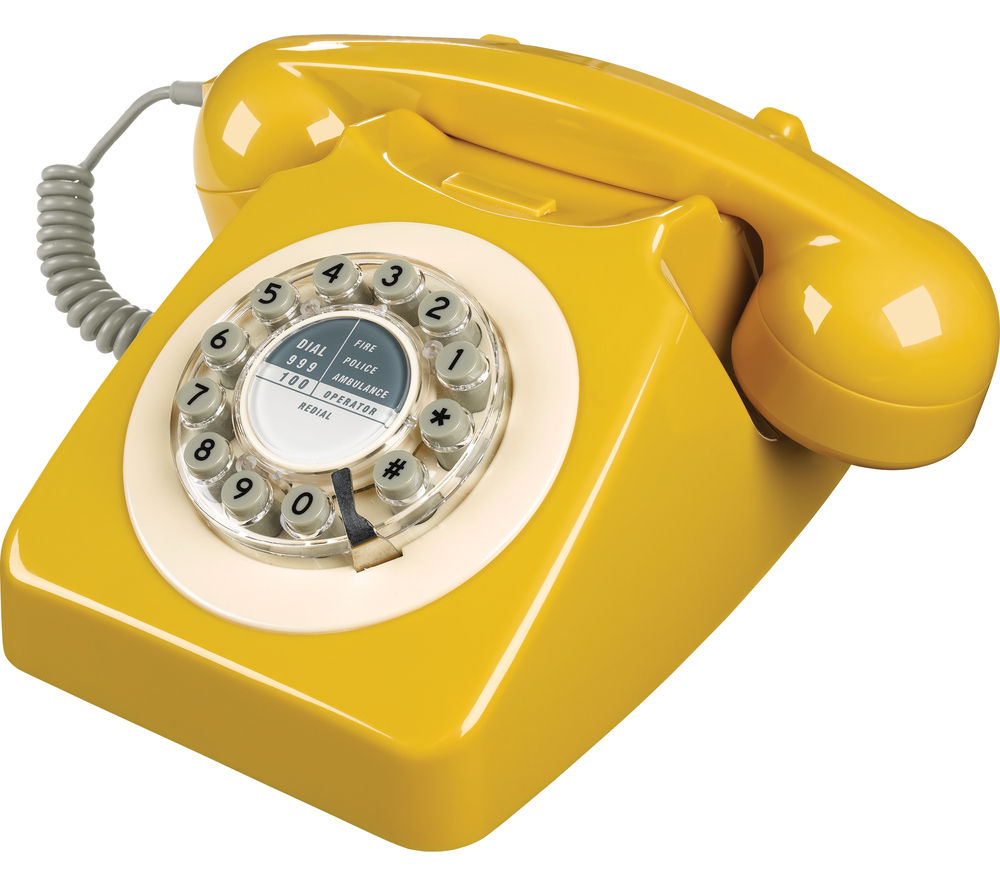 Image of WILD & WOLF 746 Corded Phone - English Mustard, Yellow