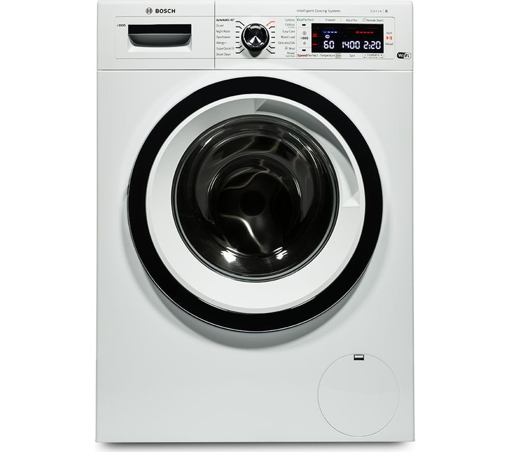 BOSCH Serie 8 i-DOS WAWH8660GB Smart Washing Machine - White