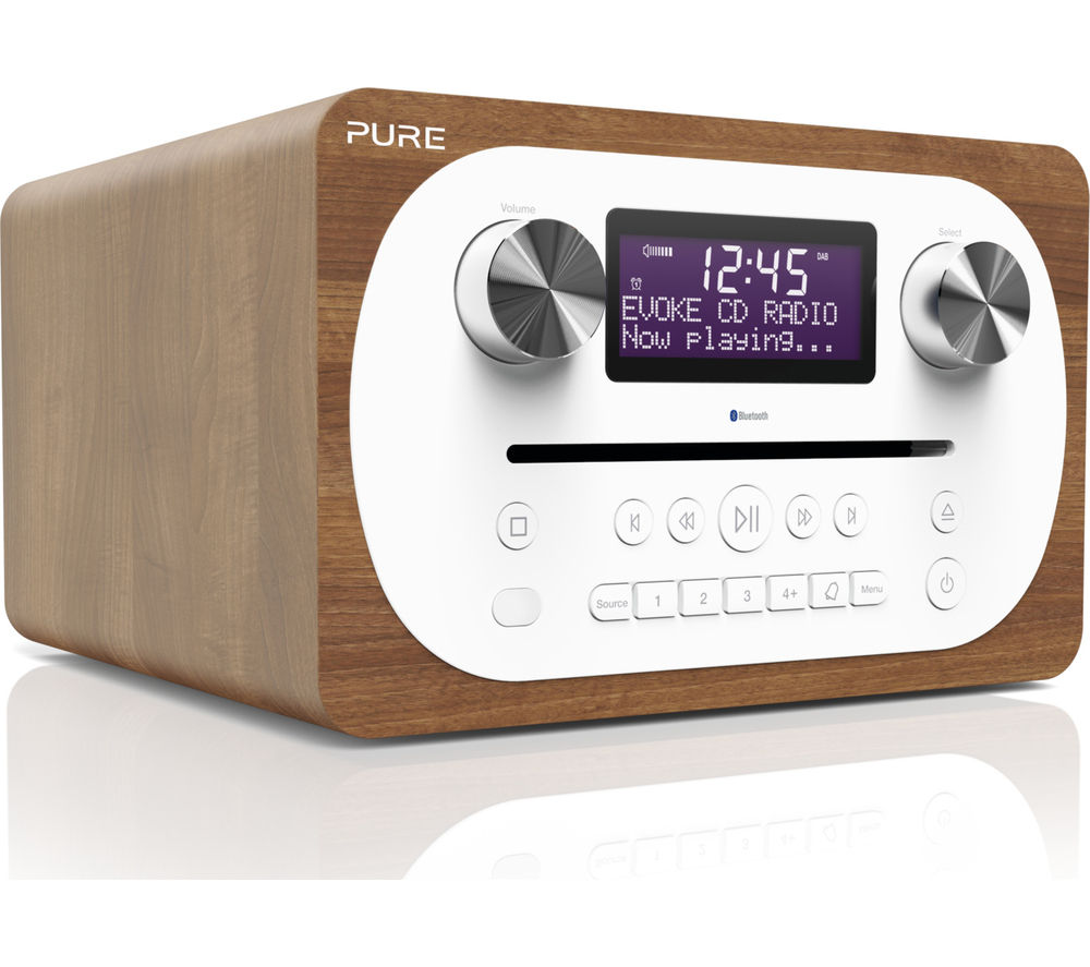 PURE Evoke C-D4 DAB? Bluetooth Radio - Walnut