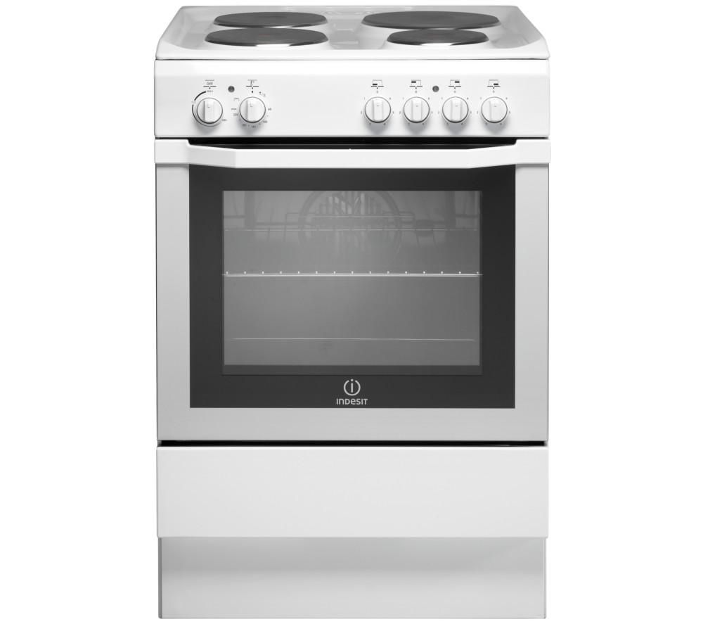 HOTPOINT I6EVA W UK 60 cm Electric Solid Plate Cooker - White, White
