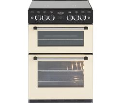 BELLING Classic 60 cm Gas Cooker - Cream & Black